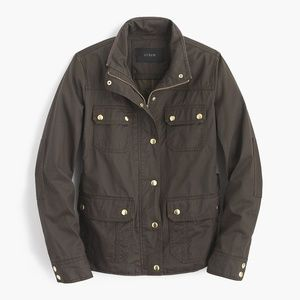 J. Crew The Downtown Oil Coated Field Jacket Small